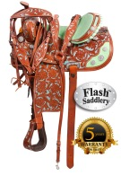 Turquoise Mint Western Barrel Saddle Tack 16 [8198] (Out Of Stock)