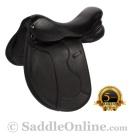 NEW Black All Purpose Eventing Dressage Horse Saddle 16.5 [8203]