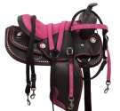 Pink Synthetic Youth Kids Western Pony Saddle 12 13 [8210P] (Out Of Stock)