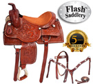 Buck Stitched Pleasure Trail Western Horse Saddle 16 17 [8251] (Out Of Stock)