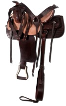 New Premium Roughout Ranch Work Trail Horse Saddle 17 [8274] (Out Of Stock)