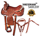Hand Carved Western Pleasure Trail Horse Saddle 16 [8276] (Out Of Stock)