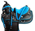 Turquoise Blue Dura Leather Youth Kids Pony Saddle 12 13 [8309P] (Out Of Stock)