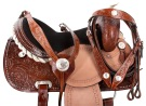 Crystal Hand Tooled Western Barrel Horse Saddle Tack 16 [9456] (Out Of Stock)