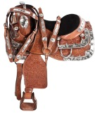 Silver Hand Carved Western Horse Show Saddle Tack 16 [9475] (Out Of Stock)