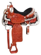 Light Mahogany Silver Show Horse Western Saddle 15 [9476] (Out Of Stock)