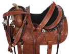 Brown Studded Barrel Racing Western Horse Saddle 14 15 [9482] (Out Of Stock)