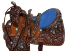Blue Leather Barrel Racing Western Horse Saddle 17 [9483] (Out Of Stock)