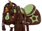 Green Ostrich Star Barrel Racing Western Horse Saddle 14[9495] (Out Of Stock)