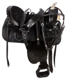 Black Pleasure Trail Barrel Racing Horse Saddle Tack 18 [9503] (Out Of Stock)