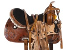 Black Inlay Crystal Barrel Racer Western Horse Saddle 16 [9504]