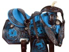 Dark Brown Blue Inlay Barrel Racing Horse Saddle Tack 15 16 [9509]