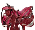 Pink Western Silver Barrel Racing Horse Saddle Tack 15 16 [9516] (Out Of Stock)
