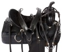 New Comfy Black Pleasure Trail Western Horse Saddle 16 [9520]