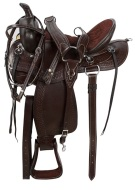 Comfy Brown Trail Endurance Horse Saddle Tack 15 16 [9522]