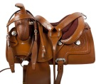 Hand Tooled Leather Horse Pleasure Trail Saddle 15 16 [9524]