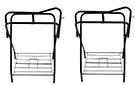 Lot Of 2 Black Folding Horse Saddle Stands[9527A]