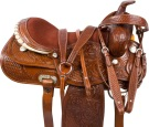 Tooled Comfortable Western Pleasure Trail Saddle 18 [9552]