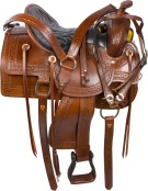Brown Old Time Western Pleasure Trail Saddle 15 16 [9553] (Out Of Stock)