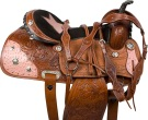 Pink Star Ostrich Leather Barrel Horse Saddle 16 [9554] (Out Of Stock)