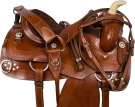 Brown Training Pleasure Trail Western Horse Saddle 15 18[9556]
