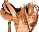 Natural Round Skirt Gaited Western Horse Saddle Tack 14 16[9557G]