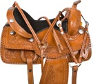 Buck Stitched Western Barrel Trail Pleasure Saddle Tack 16 [9575]