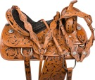 Black Inlay Barrel Racing Western Horse Saddle Tack 14 16 [9577]