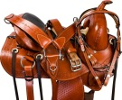New Premium Brown Leather Western Treeless Horse Saddle 16 [9631] (Out Of Stock)