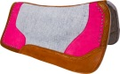 Pink Studded Grey Contour Felt Western Saddle Pad [9633] (Out Of Stock)