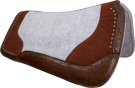 Dark Brown Studded Gray Contour Felt Western Saddle Pad[9634] (Out Of Stock)