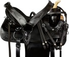 Rawhide Black Pleasure Trail Barrel Western Saddle 15 [9663] (Out Of Stock)