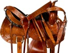 Brown Comfortable Leather Pleasure Trail Saddle 15 17 [9666] (Out Of Stock)