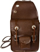 Extra Large Basket Weave Brown Leather Horse Saddle Bags [9673]
