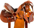 Rough Out Barrel Racing Ranch Western Horse Saddle 15 18 [9721]