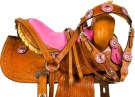 Pink Crystal Mini Horse Youth Kids Western Saddle Tack 9 [9730M] (Out Of Stock)