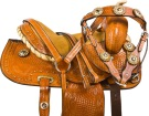 Miniature Mini Western Trail Show Leather Saddle Tack 9 [9733M] (Out Of Stock)