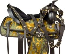 Western Camo Synthetic Pleasure Horse Saddle Tack 16 18 [9748]