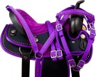 Beautiful Crystal Purple Show Trail Horse Saddle Tack 16 18 [9750]