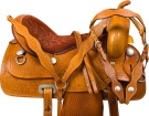 Hand Carved Western Pleasure Trail Horse Saddle Tack 15 [9751] (Out Of Stock)