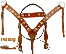 Star Headstall Breast Collar Western Horse Tack Set [9764]