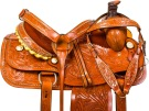 Studded Roping Ranch Work Western Horse Saddle Tack 15 [9778]