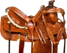Tooled Western Roping Ranch Work Horse Saddle Tack 16[9779]