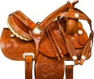 Studded Tooled Barrel Racer Western Horse Saddle Tack 16 [9780] (Out Of Stock)