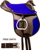 Blue Black Synthetic Leadline Pony Youth Kids Horse Saddle 12 [9786]