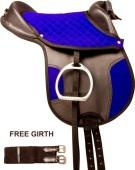 Blue Black Synthetic Leadline Pony Youth Kids Horse Saddle 12[9786]