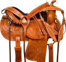 Studded Barrel Racing Western Pleasure Horse Saddle 14 17 [9802]