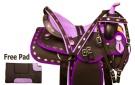 Purple Diamond Synthetic Western Horse Saddle Tack 14.5[9804]