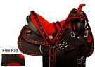 Red Crystal Synthetic Western Horse Saddle Tack 14 16 [9846]
