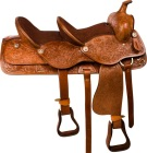 Brown Tandem Double Seat Western Trail Horse Saddle 15 & 10 [9886] (Out Of Stock)
